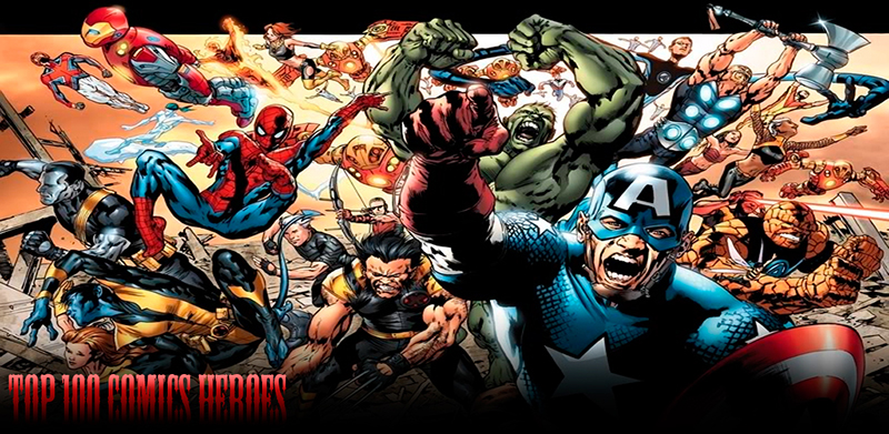 Топ 100 Героев Комиксов для Android / Top 100 Comics Heroes for Android (Glad-Ghost)